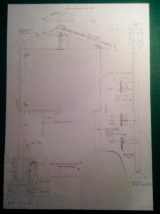 Masszeichnungen für Tafelgestell, ch-keramik.ch
