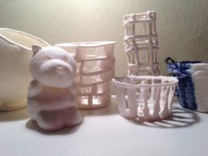 Paperclay-Porzellanmüsterli Paperclay-Kurs, ch-keramik.ch