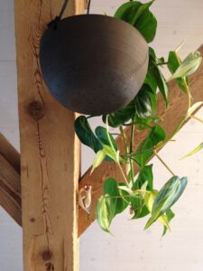 Keramiktopf hängend mit Stiglitz aus Ton, ch-keramik.ch