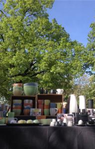 Keramikmarkt Hechtplatz, mein Stand mit Ware, ch-keramik.ch