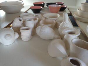 Grundausbildung Keramik intensiv, diverse Müsterli vorgebrannt, ch-keramik.ch